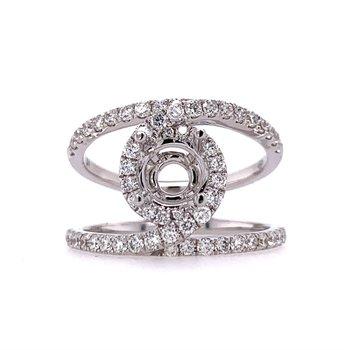 Designer Halo Ring Mounting