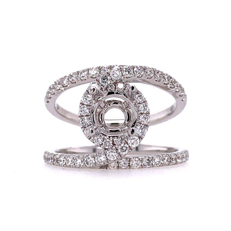 Lasker Bridal Designer Halo Ring Mounting