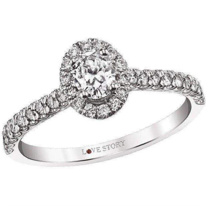Lasker Bridal Oval Halo Engagement Ring