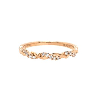 Twisted Stackable Diamond Band