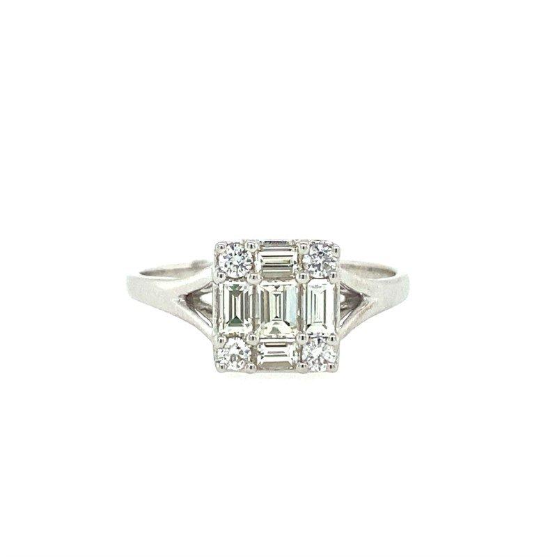 Lasker Diamond Fashion Cluster Diamond Ring
