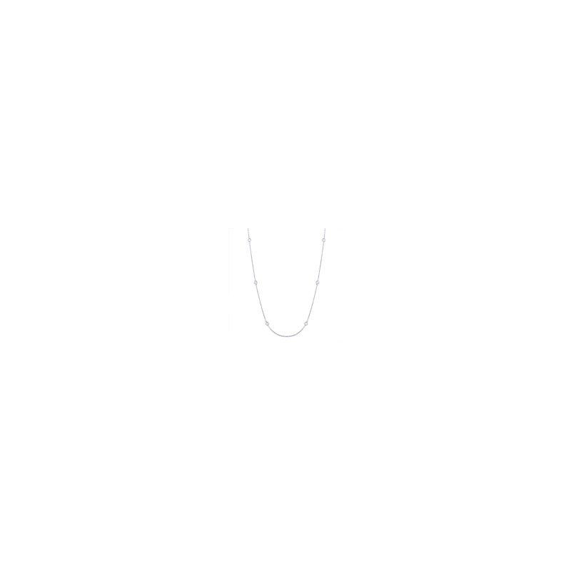 Lasker Diamond Fashion Diamonds-By-The-Yard Necklace - 1/4cttw