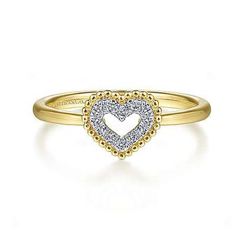Full Heart Diamond Ring