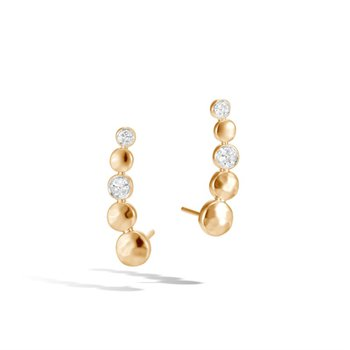 Dot Hammered Stud Earrings