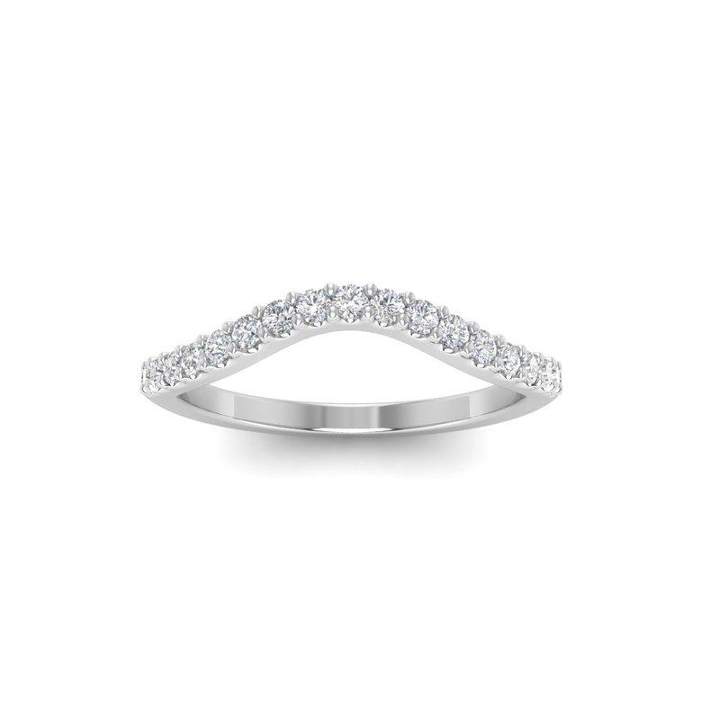 Lasker Bridal Classic Curved Prong-Set Wedding Band - 1/3cttw