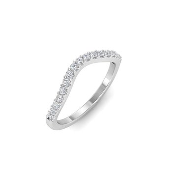 Classic Curved Prong-Set Wedding Band - 1/3cttw
