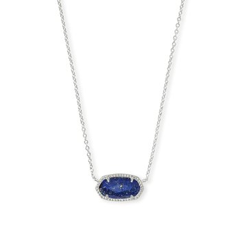 ELISA PENDANT BRIGHT SILVER IN BLUE LAPIS