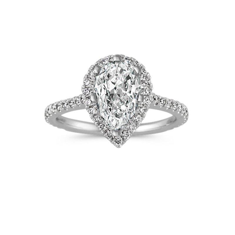 Lasker Bridal Selma Halo Engagment Ring - 1-1/2cttw