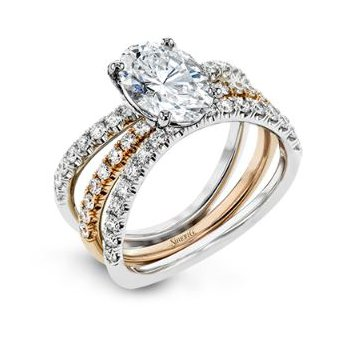 Contemporary Classic Engagement Ring Set