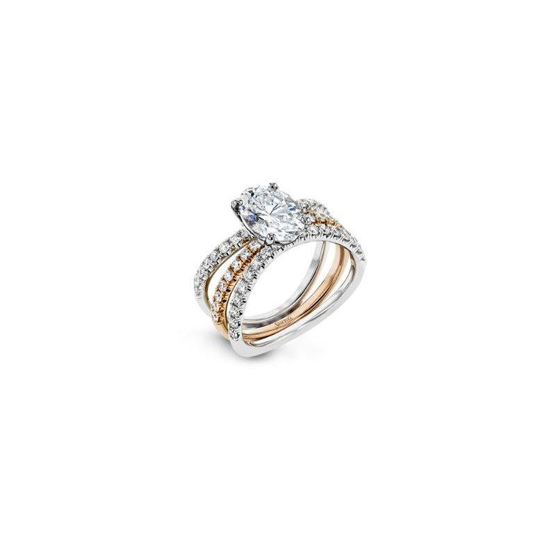 Simon G Contemporary Classic Engagement Ring Set
