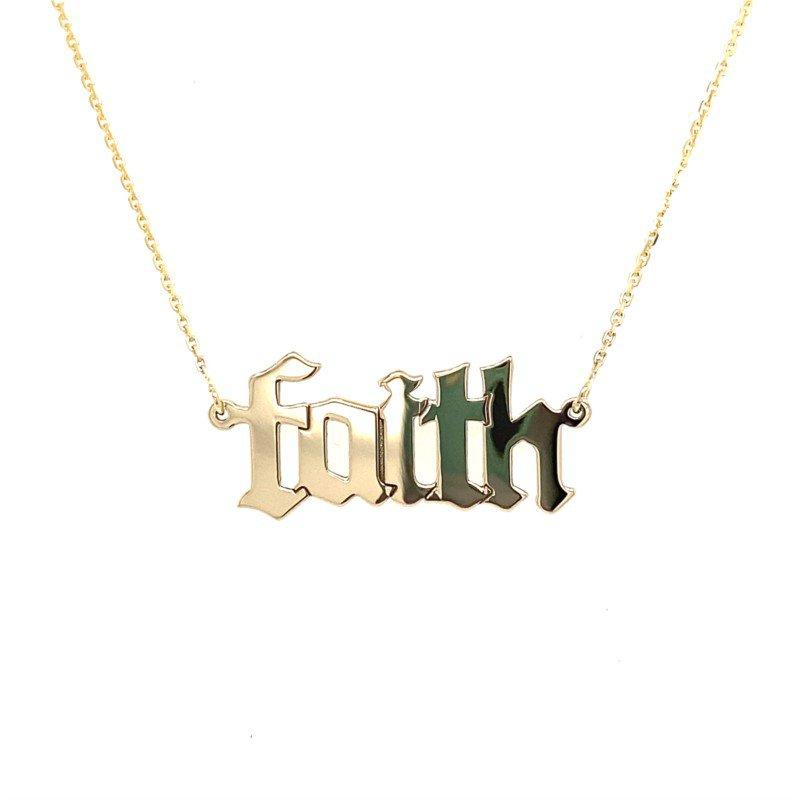 Lasker Gold Fashion Faith Necklace