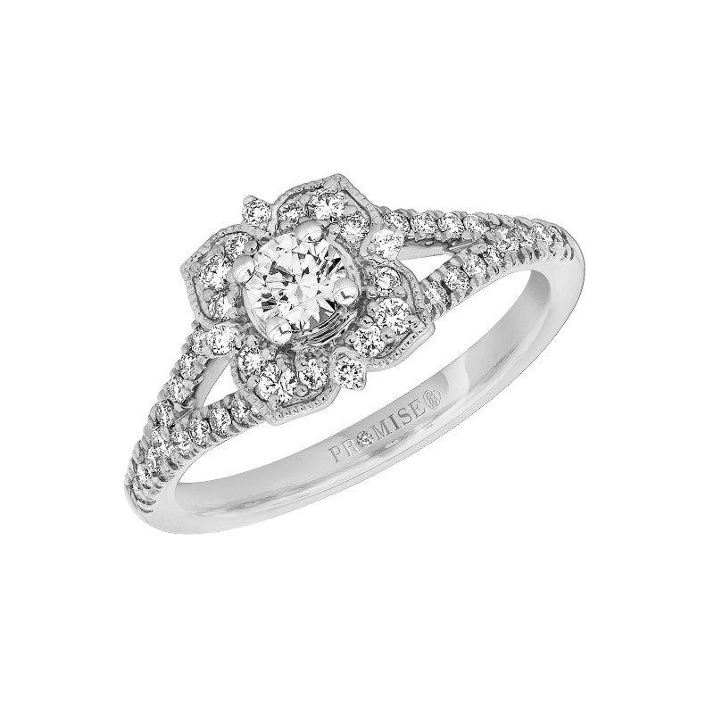 Lasker Bridal Vintage Inspired Picture Frame Ring