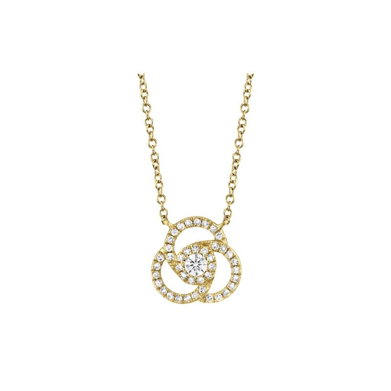 Lasker Diamond Fashion Spiral Diamond Pendant