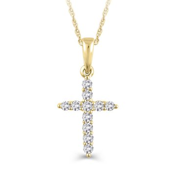 Diamond Cross Pendant - 0.25TW
