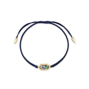 Grayson Navy Cord Friendship Bracelet In Nude Abalone