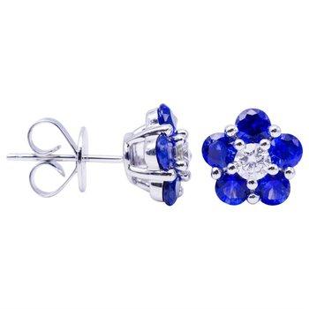 Flower Power Sapphire Earrings