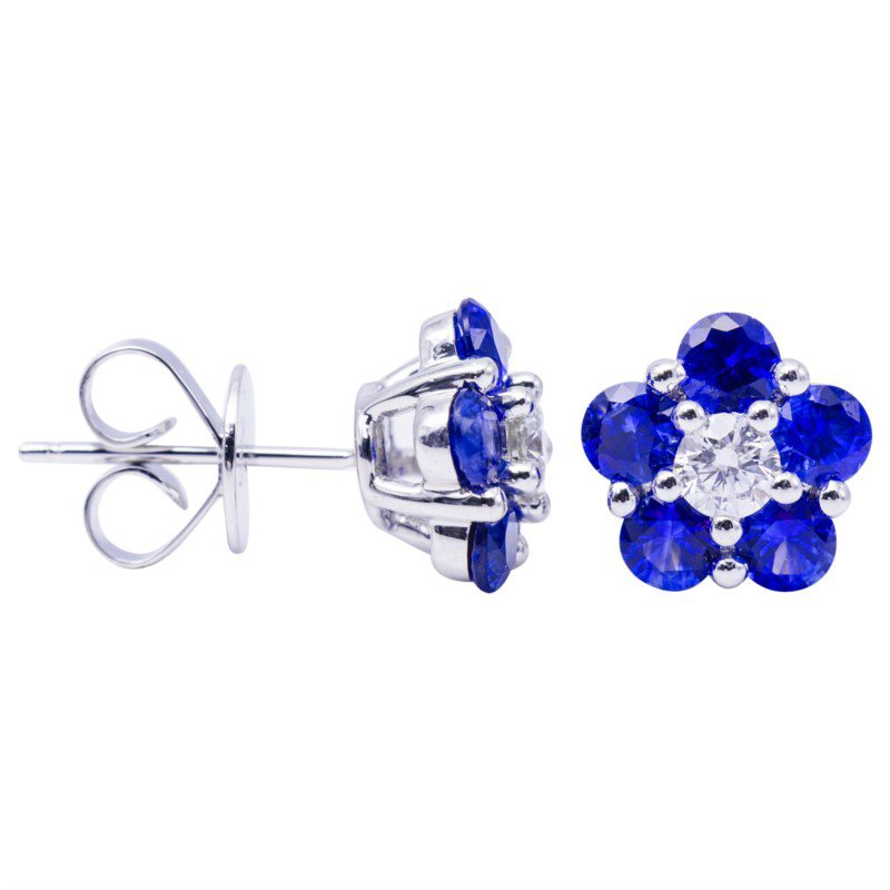 Lasker Gemstone Flower Power Sapphire Earrings