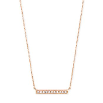 Addison Pendant Necklace In Rose Gold