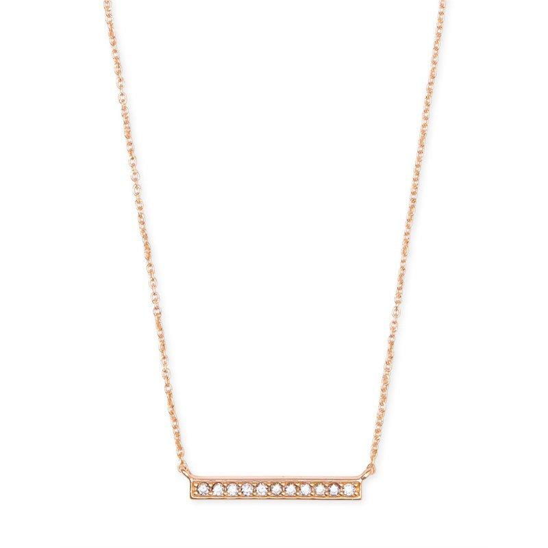 Kendra Scott Addison Pendant Necklace In Rose Gold