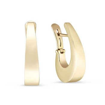 """J"" Tapered Hoop Earrings"