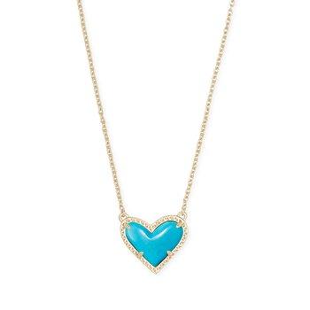Ari Heart Pendant in Turquoise Magnesite