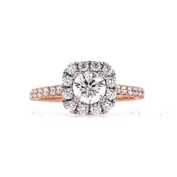 Selena Halo Ring - 1/2ct Center Diamond