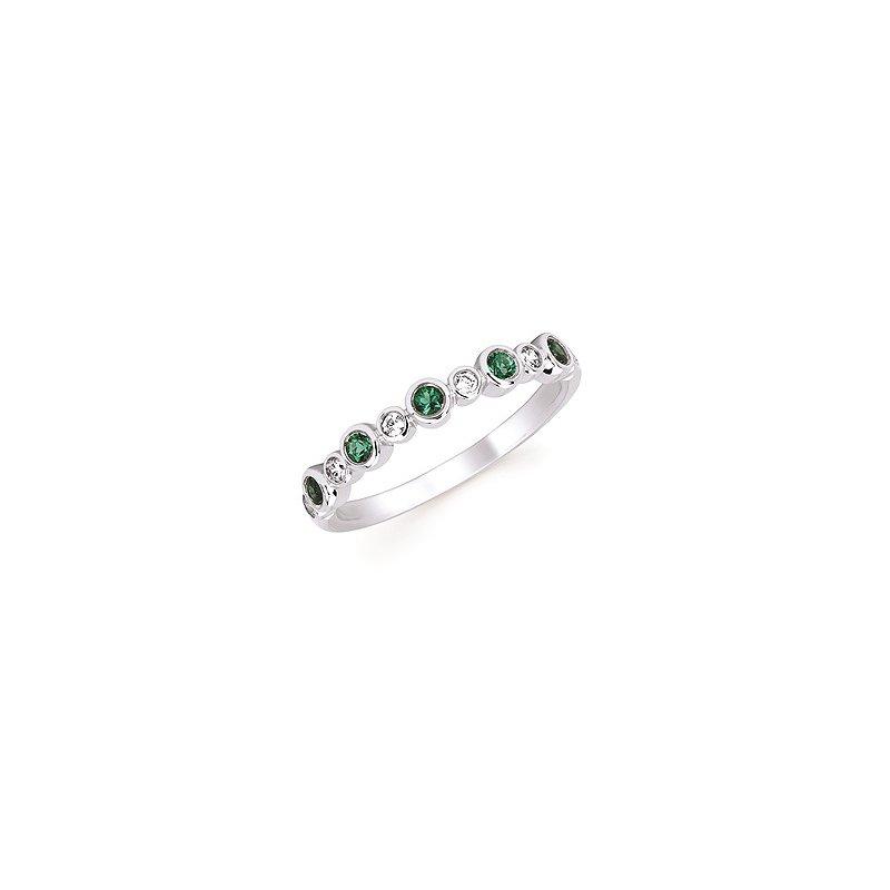 Lasker Gemstone Emerald and Diamond BirthStone Ring