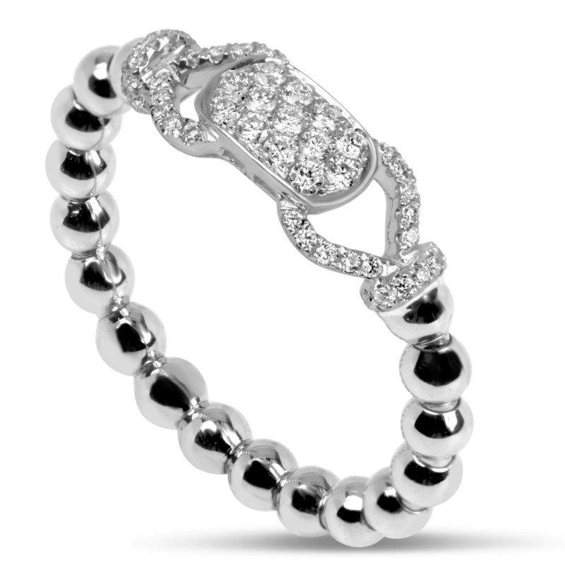 Lasker Diamond Fashion Beaded Stretch Ring