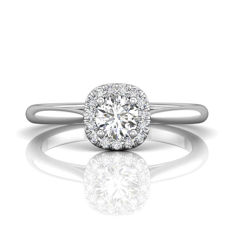 Forevermark Petite Halo Engagement Ring