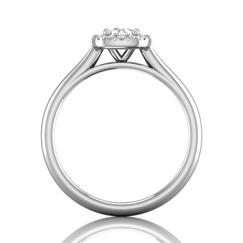 Petite Halo Engagement Ring
