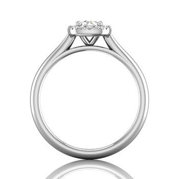 Petite Halo Engagement Ring