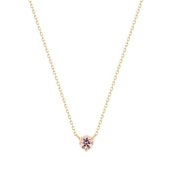 Blossom Morganite Solitaire Necklace