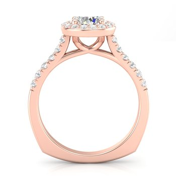 Classic Halo Ring in Rose Gold
