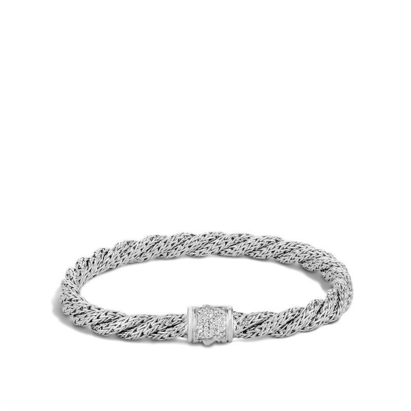 JOHN HARDY Twisted Chain Bracelet with Diamonds