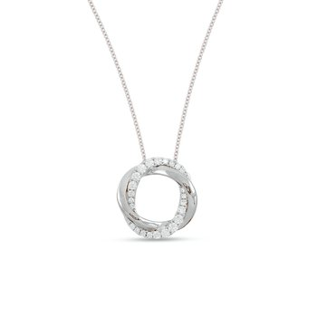 Frederic Sage Small Diamond Twist Halo Pendant