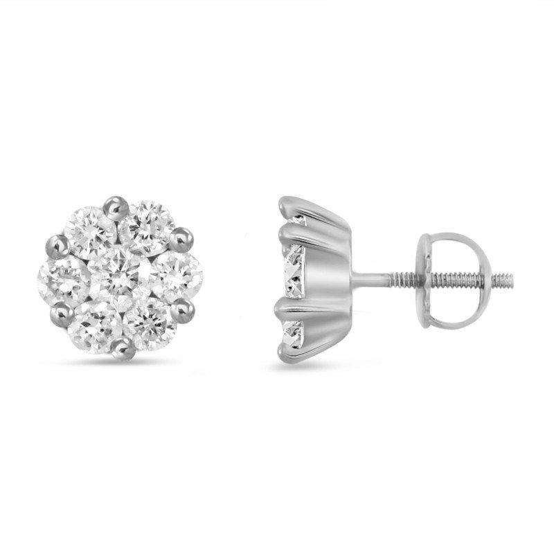 Lasker Diamond Fashion Tiny Cluster Earrings