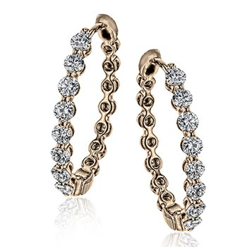 Modern Enchantment Diamond Hoop Earrings
