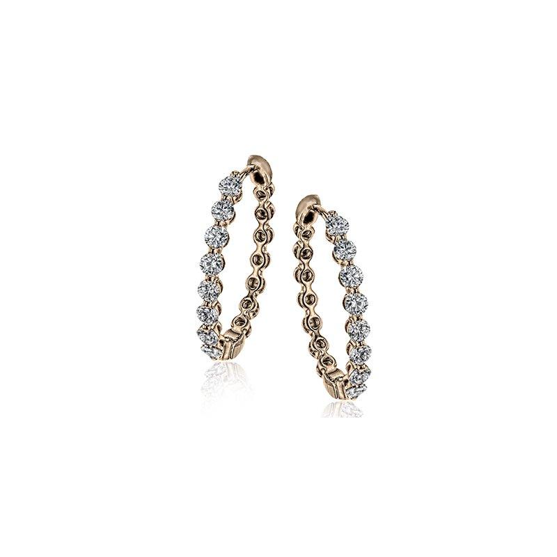 Simon G Modern Enchantment Diamond Hoop Earrings