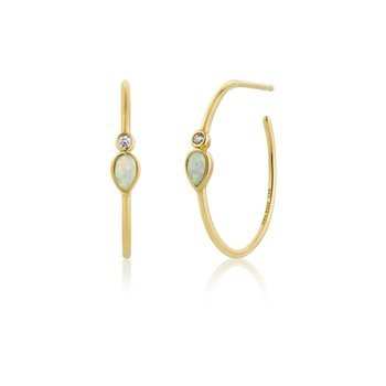 Opal Colour Raindrop Hoops