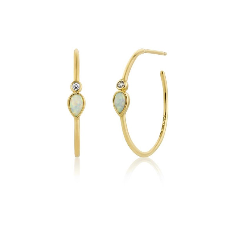 Ania Haie Opal Colour Raindrop Hoops