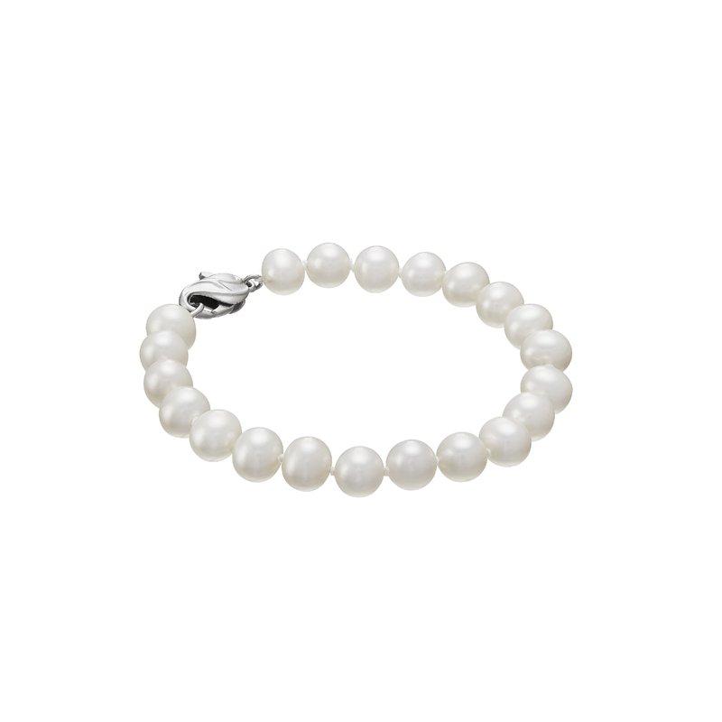 """Lasker Pearl Fashion 7"""" 7-8MM Fresh Water Pearl Bracelet"""