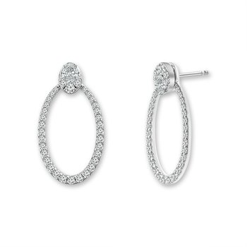 Open Oval Shaped Earring Jackets