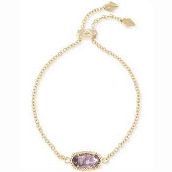 Elaina Adjustable Chain Bracelet In Amethyst