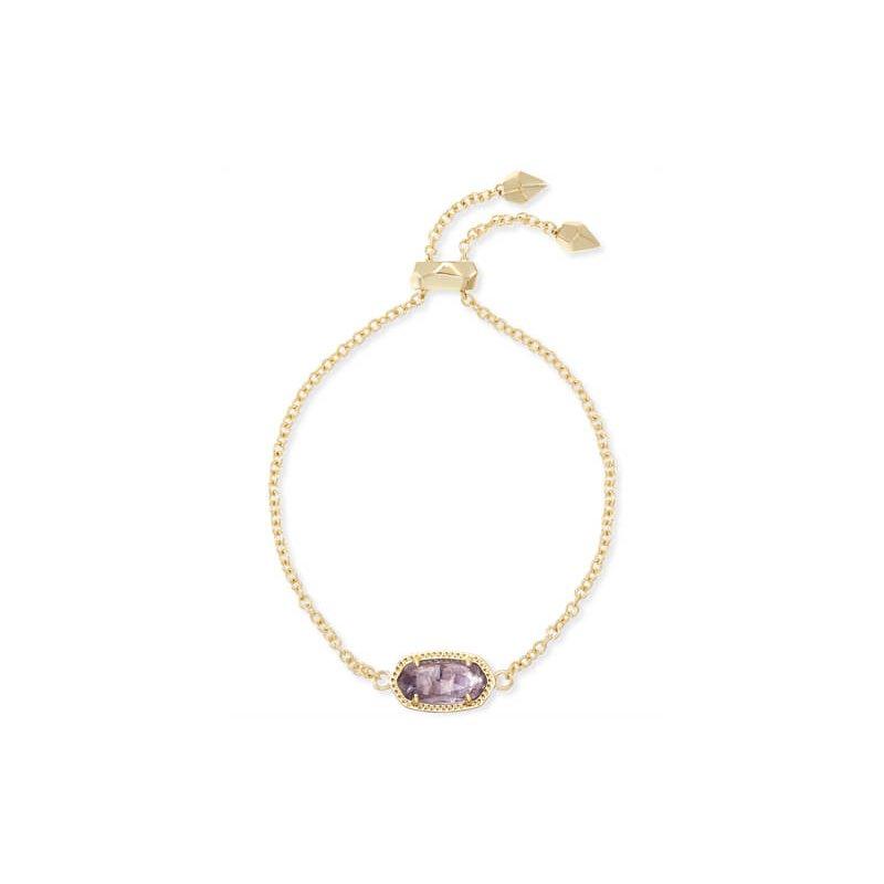 Kendra Scott Elaina Adjustable Chain Bracelet In Amethyst