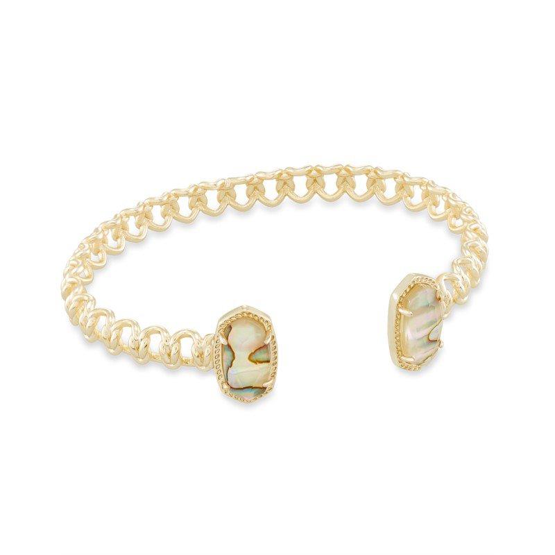 Kendra Scott Macrame Elton Gold Cuff Bracelet In Nude Abalone
