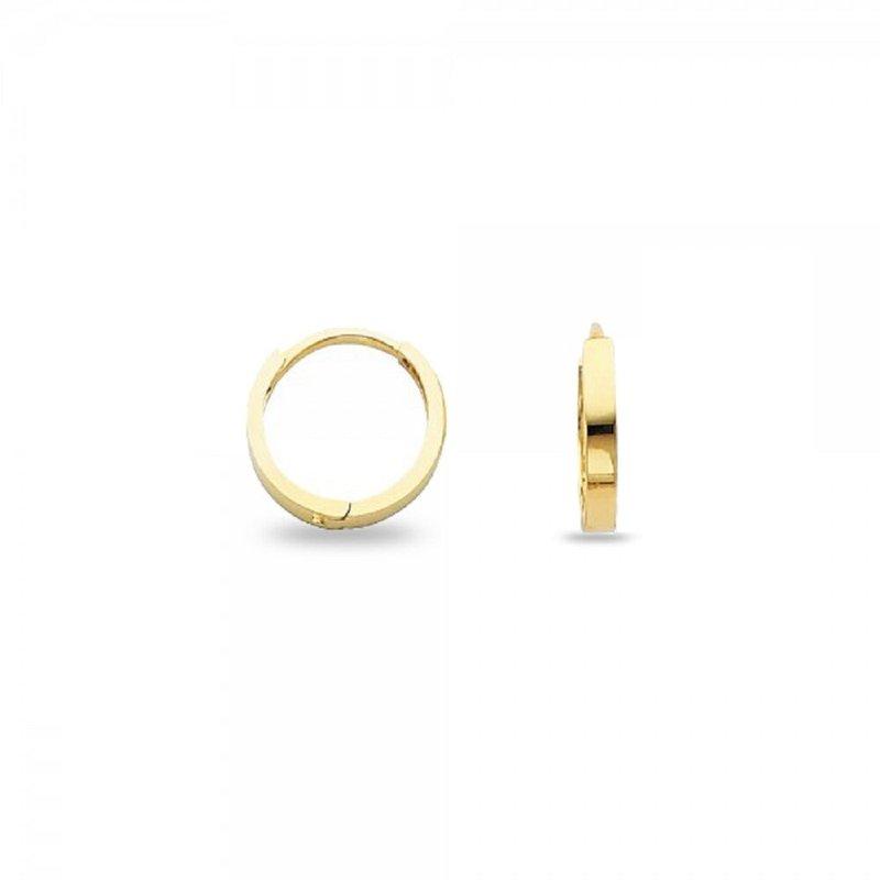 Lasker Gold Fashion 14kt Square Huggie Earrings