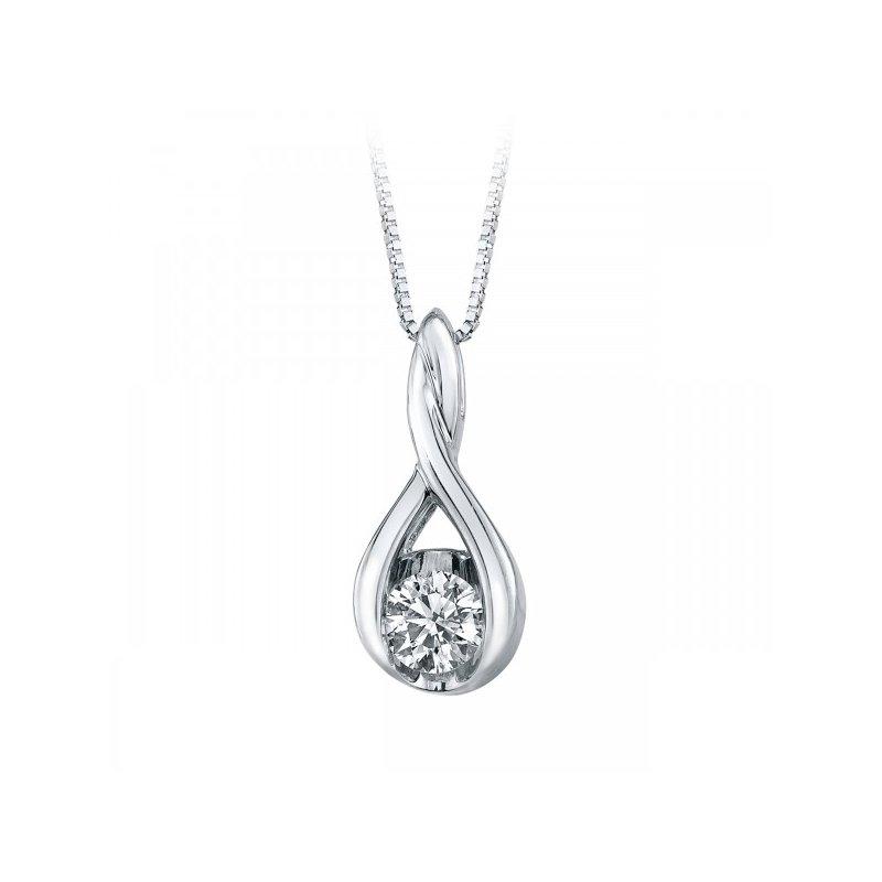 Lasker Diamond Fashion Weave Diamond Solitaire Pendant - .40ct