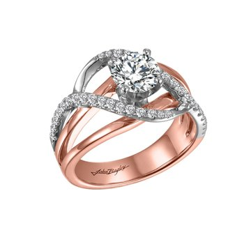 Free-Form Mounting in Rose & White Gold