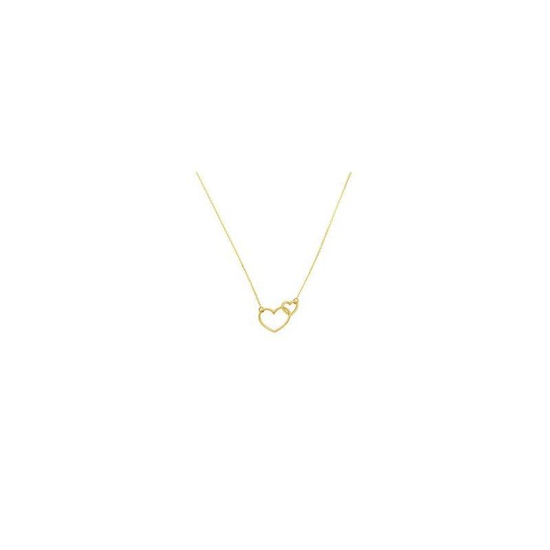 Lasker Gold Fashion Interlocking Hearts Necklace
