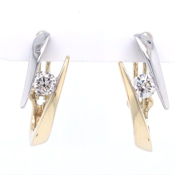 Bypass Diamond Earrings